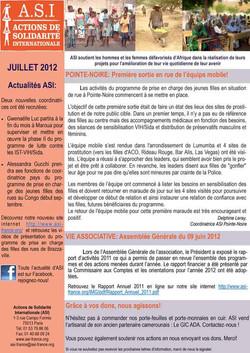 Newsletter Juillet 2012