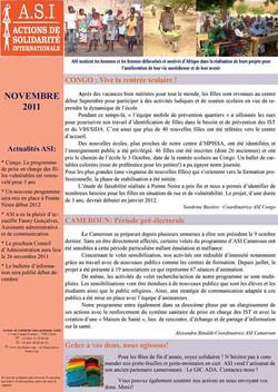 Newsletter Novembre 2011