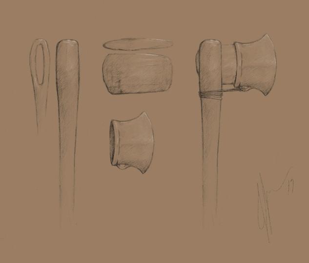 Nordic Bronze Age Felling Axe