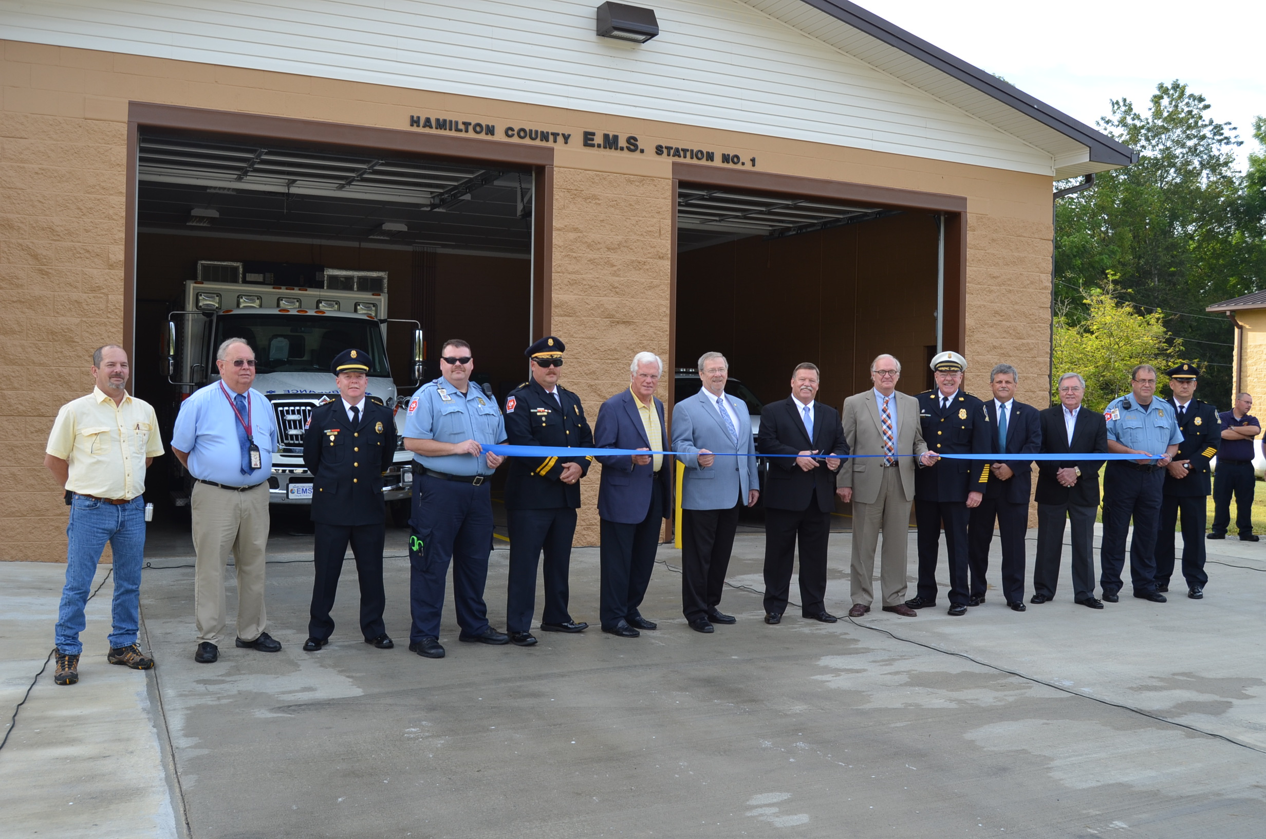 Ribbon Cutting for Station 1