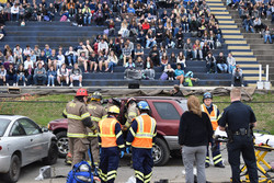HCEMS participate in DUI Mock Crash