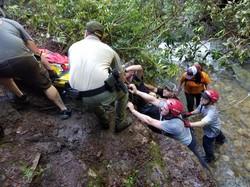 Rescued efforts for injured hiker