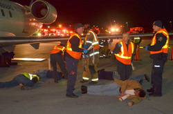 EMS assist with Airport Drill