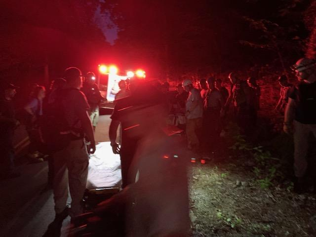 Rescue efforts for injured hiker