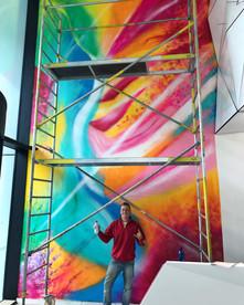 26 m Mural artu v Mayhouse Praha