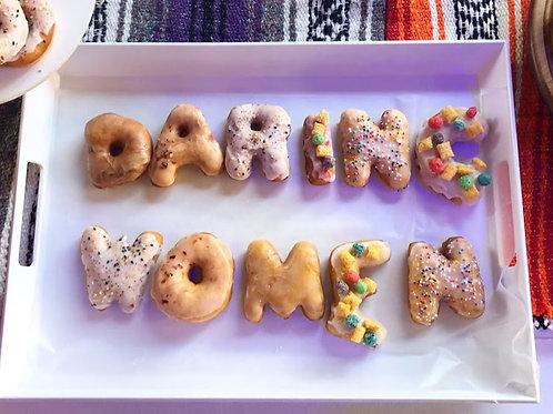 Custom Donut Letters