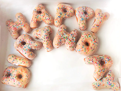 Happy Birthday Donut Letters