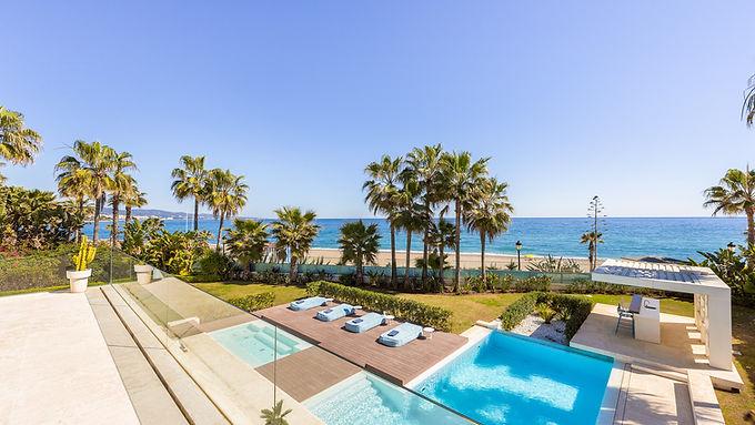 First Line Beach Contemporary Villa Golden Mile Marbella