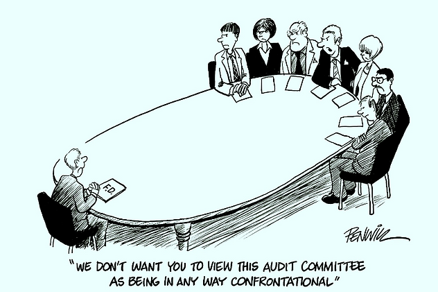 Audit Meeting confrontation between auditors and auditee