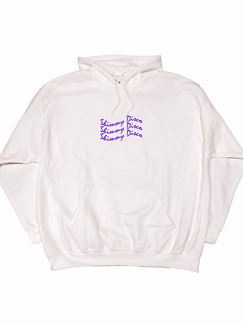 Shimmy Disco Hoodie White