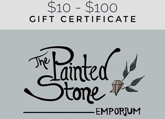 Painted Stone Emporium Gift Certificate