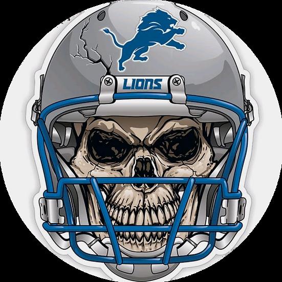 Detroit Lions Skull Helmet