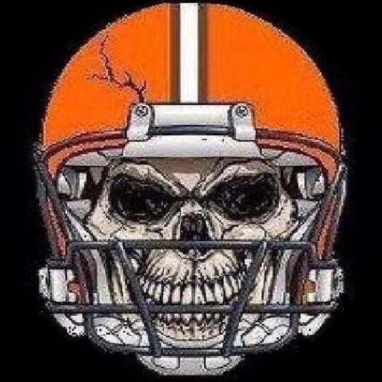 Browns Helmet Skull