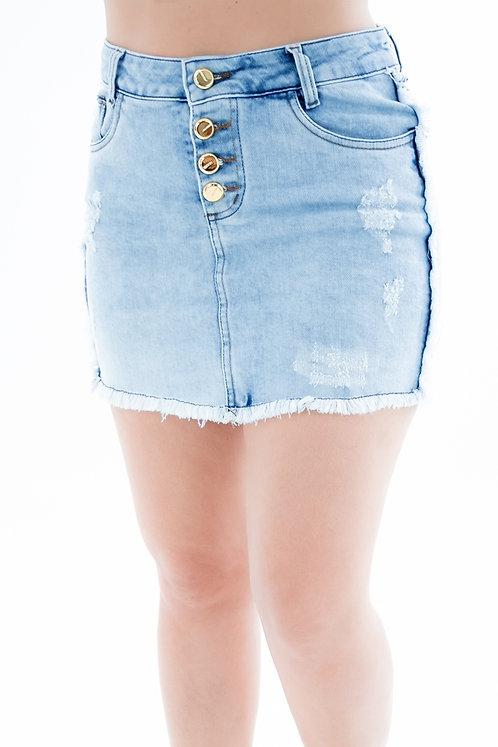 Saia Jeans Modelo Vintage - 4423