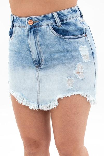 Saia Jeans Modelo Hot Pants - 4481