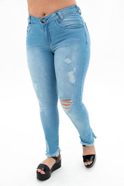 Calça Jeans Modelo Cropped- 10593