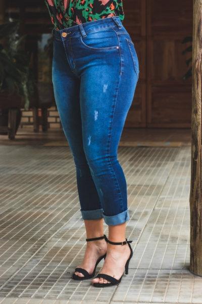 Calça Jeans Modelo Cropped - 10576