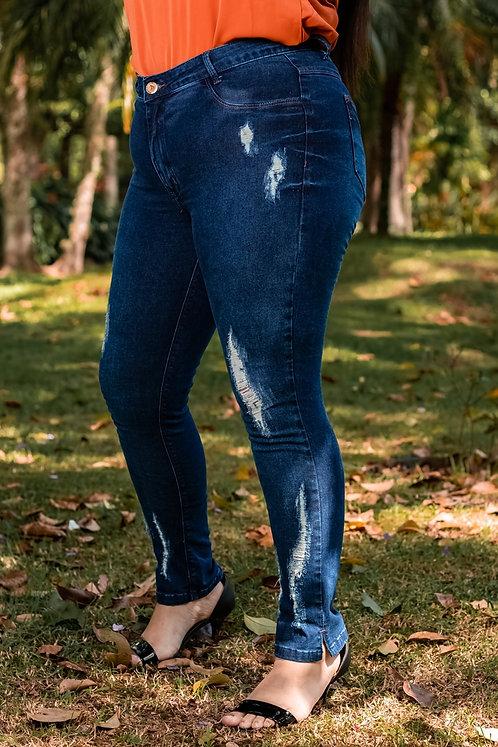 Calça Jeans Modelo Cropped - 12506