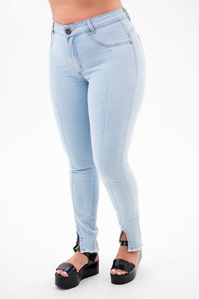 Calça Jeans Modelo Cropped - 12535