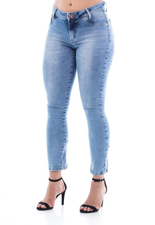 Calça Jeans Modelo Cropped - 13537