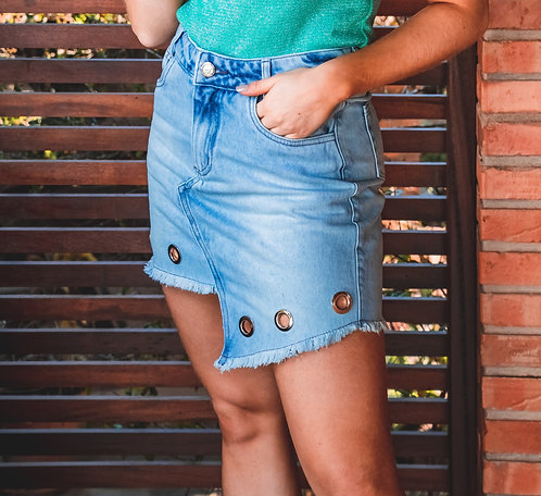 Saia Jeans Hot Pants - 6455