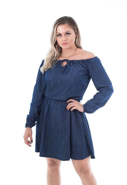 Vestido Jeans Ciganinha Rahynara  - 6471