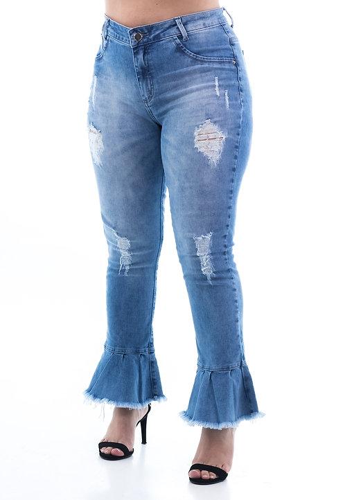 Calça Jeans Modelo Cropped Deise - 13530