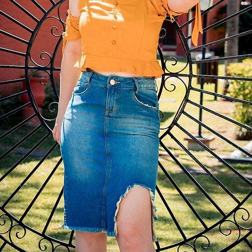 Saia Jeans Midi -5498