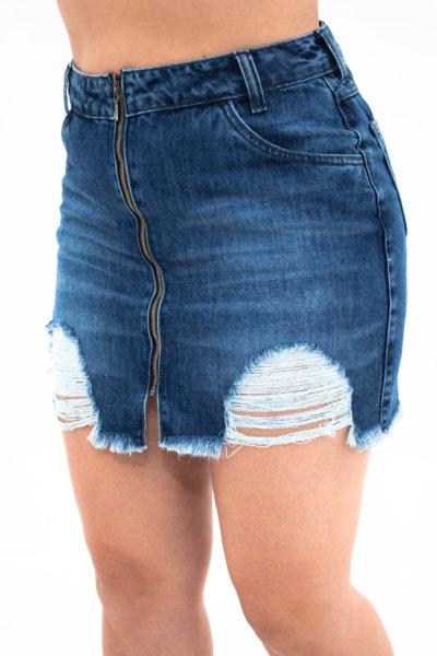 Saia Jeans Hot Pants - 4482B