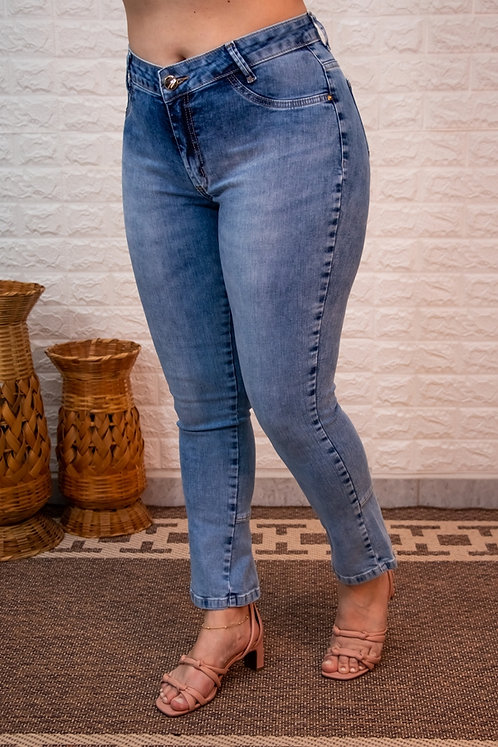 Calça Jeans Modelo Cropped - 12537A