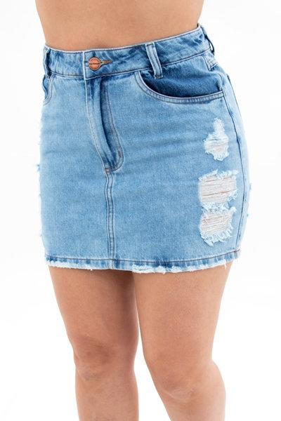 Saia Jeans Modelo Hot Pants - 5401
