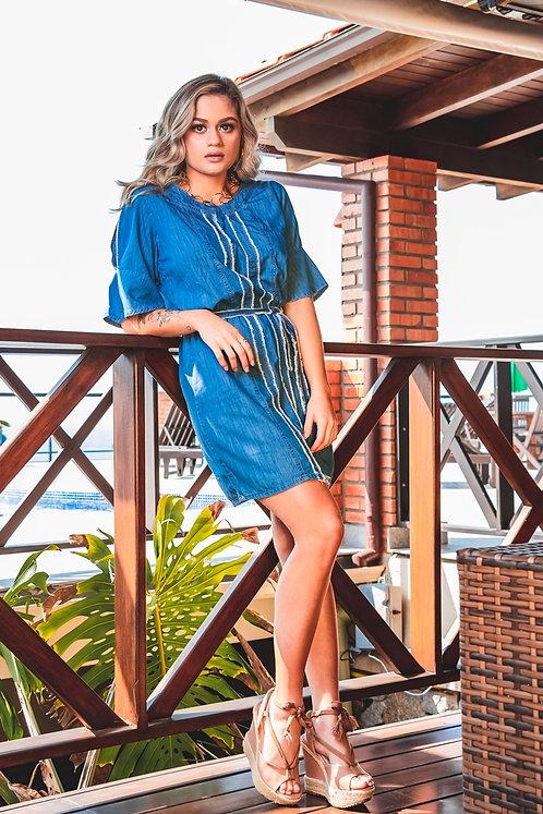 Vestido Jeans Fininho - 6418