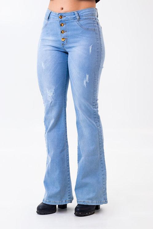 Calça Jeans Modelo Flare - 12545B