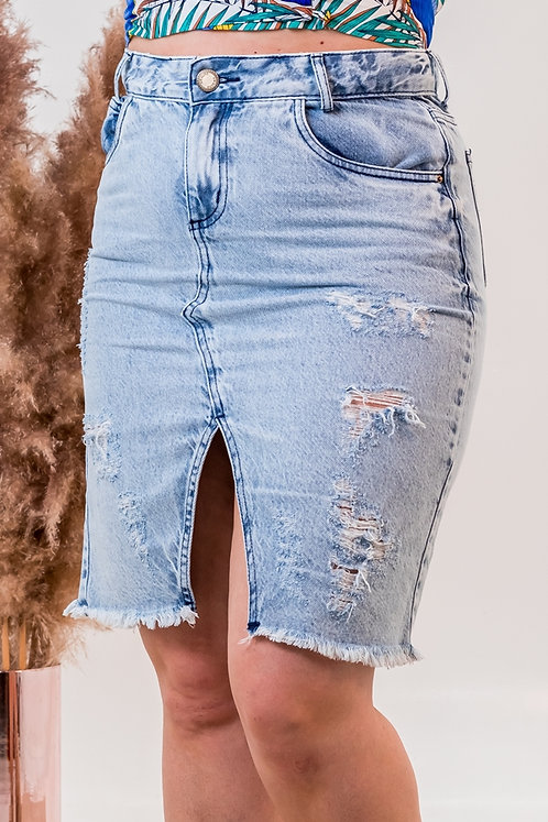 Saia Jeans Midi -6478