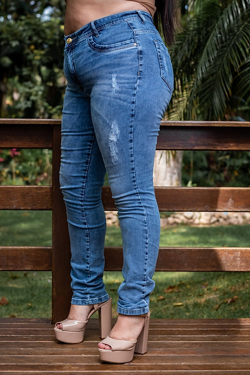 Calça Jeans Modelo Skinny - 12502