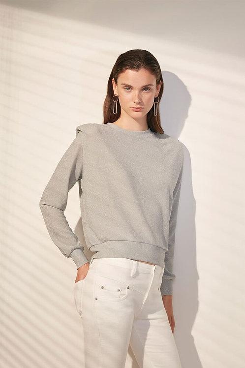 StanleyFancy sweatshirt in lurex with epaulets details Suncoo