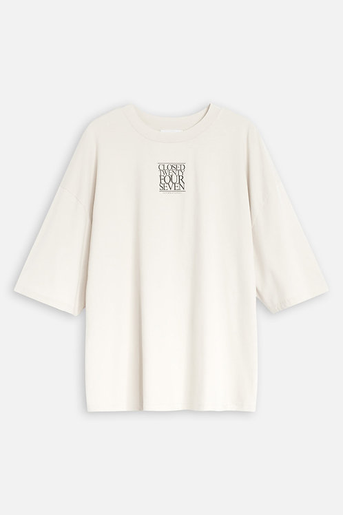 Organic Cotton Relaxed T-Shirt with Print Closed
