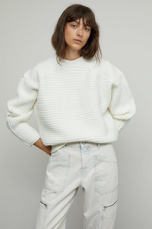 Italian Yarn Heavy Knit Sweater Closed