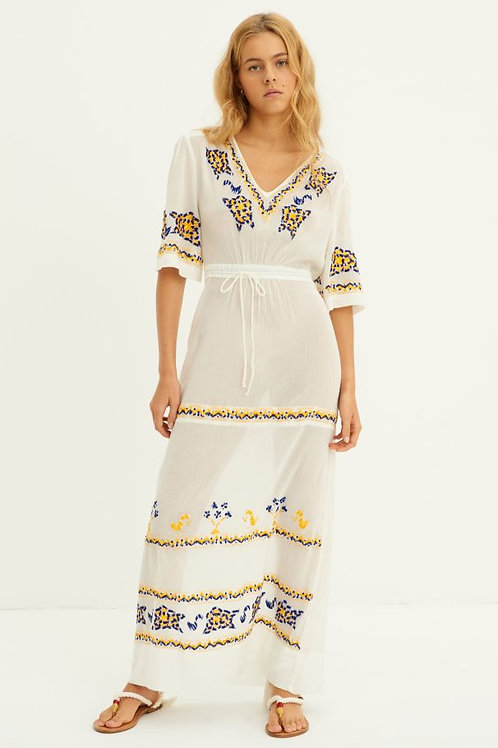 Miguel Embroidered Maxi Dress