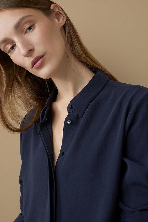 sleek twill blouse Lani Closed