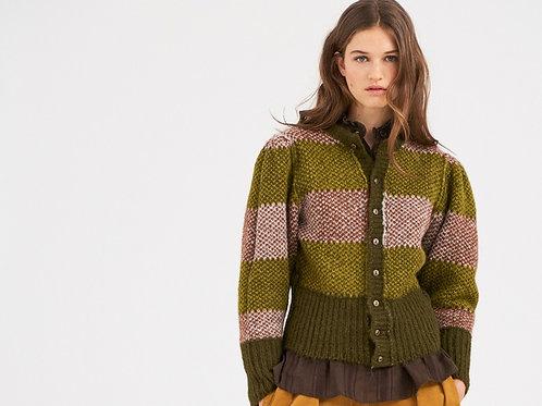 Arthur Alpaca Vest - Green Antik Batik
