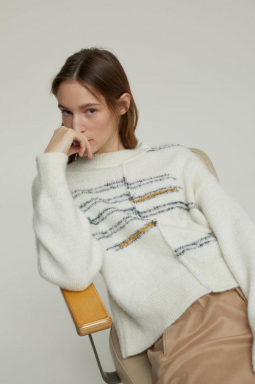 Royal Baby Alpaca Mix Knit Sweater Closed