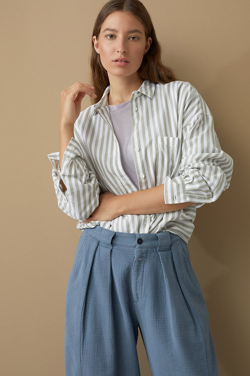 Organic Cotton Oxford Shirt Blouse Tilda Closed
