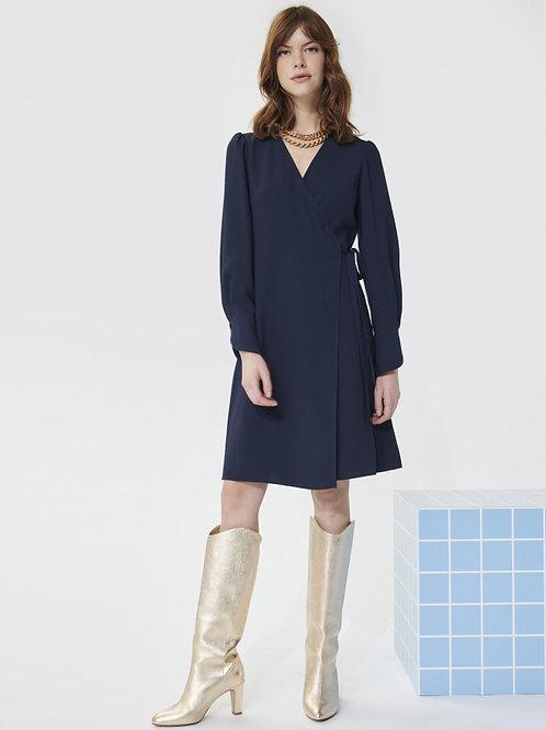 ROMYLIE MIDNIGHT BLUE CREPE DRESS Tara Jarmon