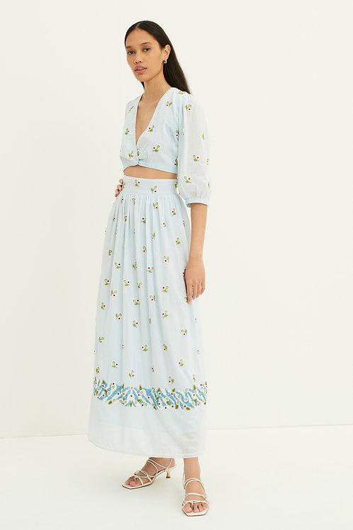 Beata Beaded Embroidered Maxi Skirt Antik Batik