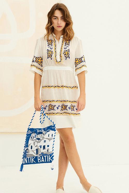 Miguel Embroidered Mini Dress Antik batik