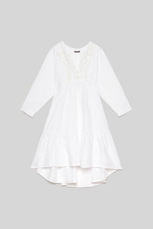 RAMAGE ON LINEN DRESS Mali Parmi