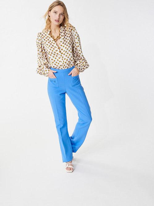 SOFT BLUE PAIVA PANTS IN DOUBLE CLOTH Tara Jarmon