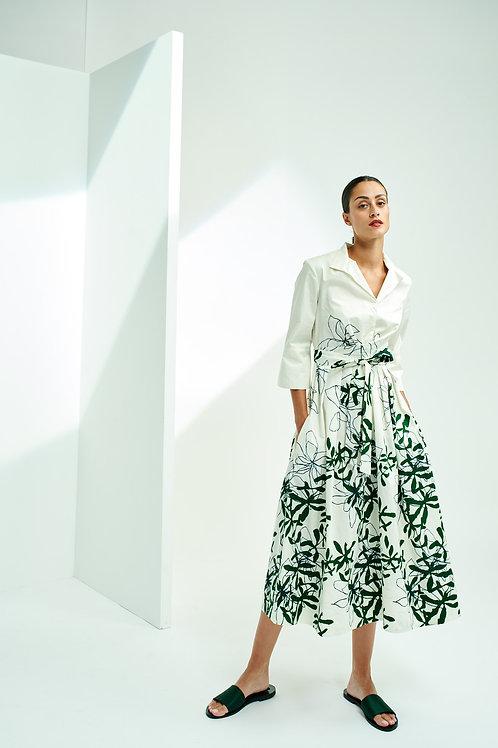 STRETCH COTTON DRESS WITH FLOWERPRINT Natan