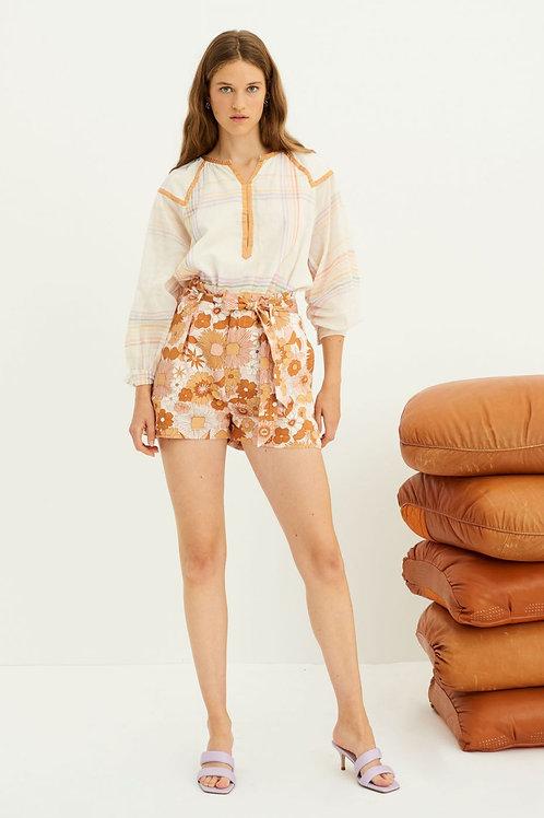Paula Printed Shorts - Ochre Antik Batik